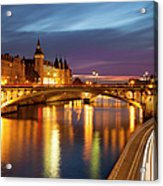 River Seine And The Concierge Acrylic Print