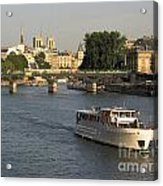 River Seine In Paris Acrylic Print