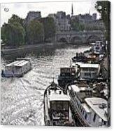 River Seine. Paris Acrylic Print