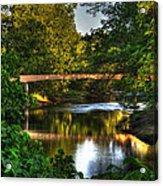 River Walk Bridge Acrylic Print