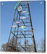 River Walk Tower Sign In West Sacramento California . 7d11400 Acrylic Print