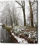 River With Snow Acrylic Print