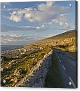 Road Along The Burren Coastline Region Acrylic Print