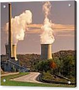 Road And Nuclear Plant.  Kentucky Acrylic Print