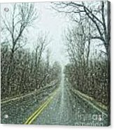 Road In The Snow Acrylic Print