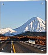 Road To Mt Ngauruhoe Acrylic Print