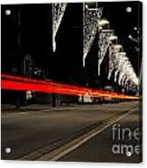 Road With Lights Acrylic Print