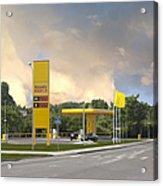 Roadside Gas Station Acrylic Print by Jaak Nilson