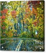 Roadway After The Rain  Acrylic Print
