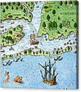 Roanoke Landing, 1585 Acrylic Print