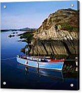 Roaringwater Bay, Co Cork, Ireland Boat Acrylic Print