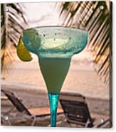 Roatans West Bay, Tropical Drink Acrylic Print