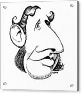 Robert Fitzroy, Caricature Acrylic Print by Gary Brown