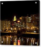 Rochester By Night Acrylic Print