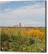 Rochester Skyline Panorama Acrylic Print