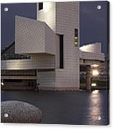 Rock And Roll Hall Of Fame At Dusk Acrylic Print by At Lands End Photography