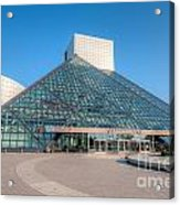 Rock And Roll Hall Of Fame II Acrylic Print by Clarence Holmes