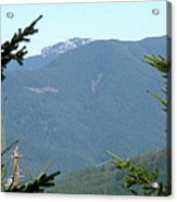Rock Formation On The Ridge Acrylic Print
