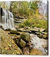 Rock Glen Falls Acrylic Print by Cale Best