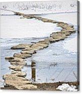 Rock Lake Crossing Acrylic Print