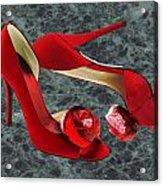 Rock Me Red Pom Poms Acrylic Print