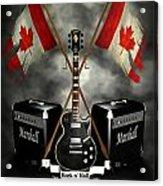 Rock N Roll Crest- Canada Acrylic Print by Frederico Borges