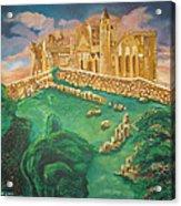 Rock Of Cashel-ireland Acrylic Print by John Keaton