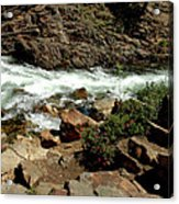 Rock Steps To Glen Alpine Creek Acrylic Print