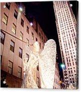 Rockefeller Plaza At Christmas Acrylic Print