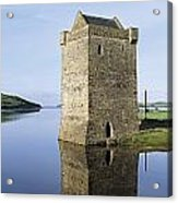 Rockfleet Castle On Clew Bay, County Acrylic Print