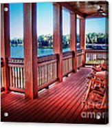 Rocking Chair Porch View Acrylic Print