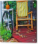 Rocking In Autumn Acrylic Print
