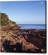Rockpools In Volcanic Rock Formations Acrylic Print