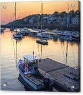 Rockport Dawn Acrylic Print by Matthew Green