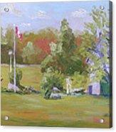 Rockport Ontario Pond Fountain Acrylic Print
