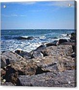 Rocks And The Ocean Acrylic Print