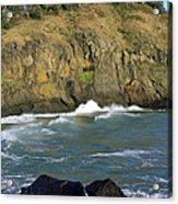 Rocks And Waves Acrylic Print