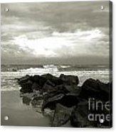 Rocks At Folly Beach Sc Acrylic Print