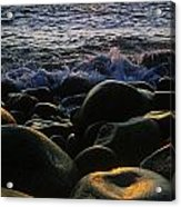 Rocks At The Coast, Giants Causeway Acrylic Print