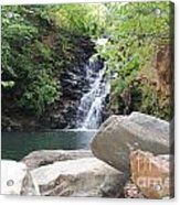 Rocks Of The Falls Acrylic Print