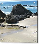 Rocks On The Oregon Coast Acrylic Print