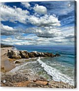 Rocky Coast In Malibu California Acrylic Print