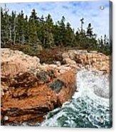 Rocky Maine Coastline. Acrylic Print