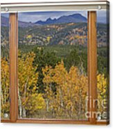 Rocky Mountain Autumn Picture Window Scenic View Acrylic Print