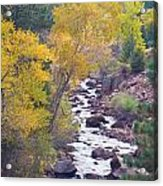 Rocky Mountain Golden Canyon Scenic View Acrylic Print