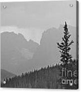 Rocky Mountain High Bw Acrylic Print