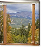 Rocky Mountain Picture Window Scenic View Acrylic Print