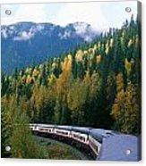 Rocky Mountain Rail Tours, Jasper Acrylic Print