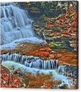Rocky Pool Falls Acrylic Print