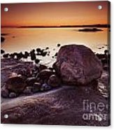 Rocky Shore At Twilight Acrylic Print